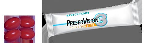 compléments alimentaires PreserVision3 en capsules et stick